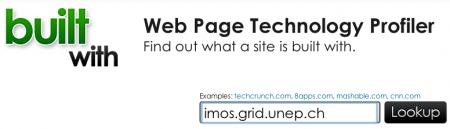 Technologien von Webseiten via Webdienst herausfinden