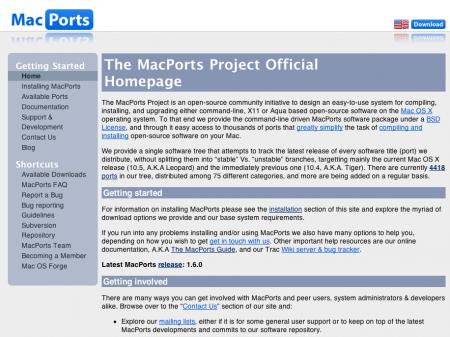 Mac: MacPorts
